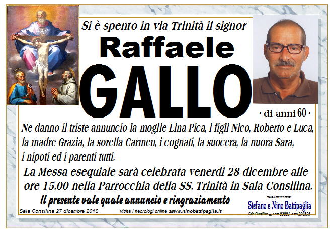 foto manifesto Gallo Michele