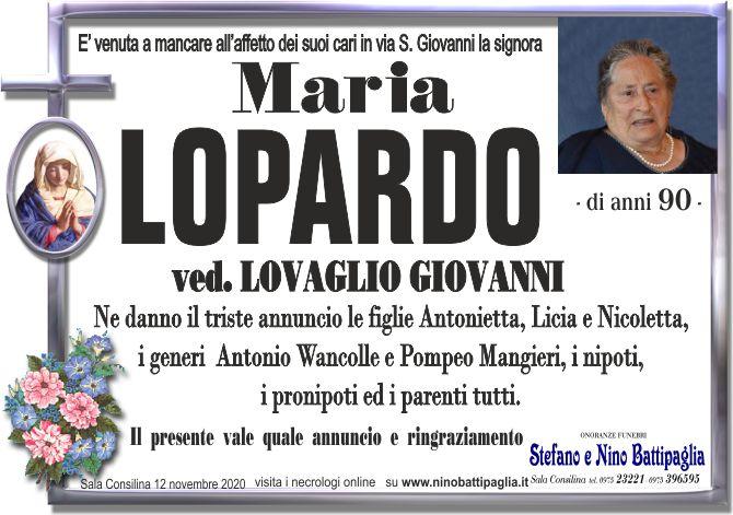 foto manifesto LOPARDO MARIA