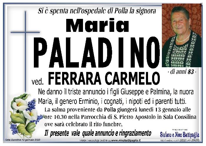 foto manifesto PALADINO MARIA