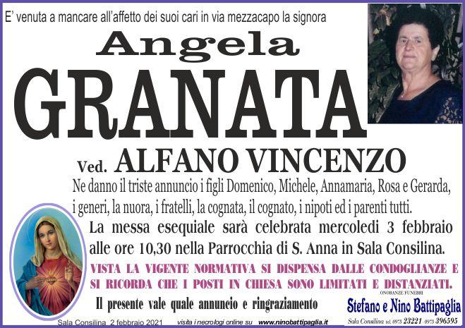 foto manifesto GRANATA ANGELA