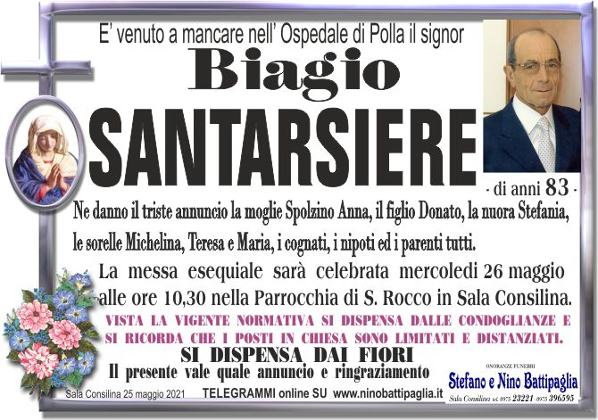foto manifesto SANTARSIERE BIAGIO