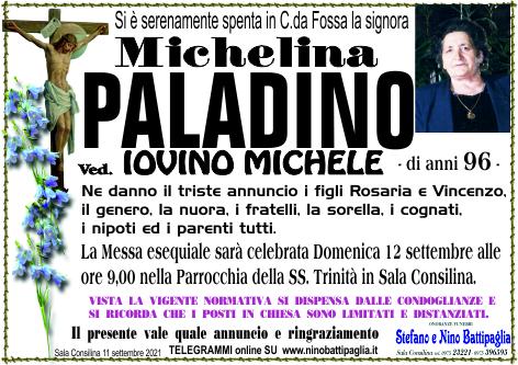 foto manifesto PALADINO MICHELINA