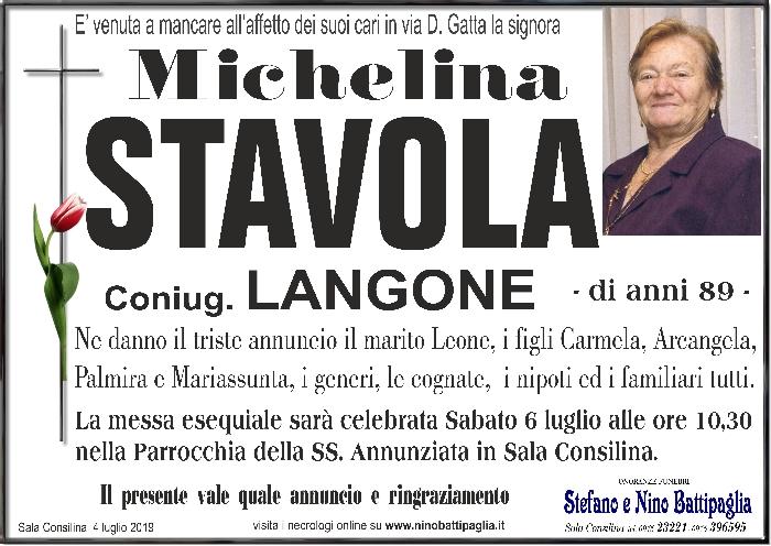 foto manifesto STAVOLA MICHELINA