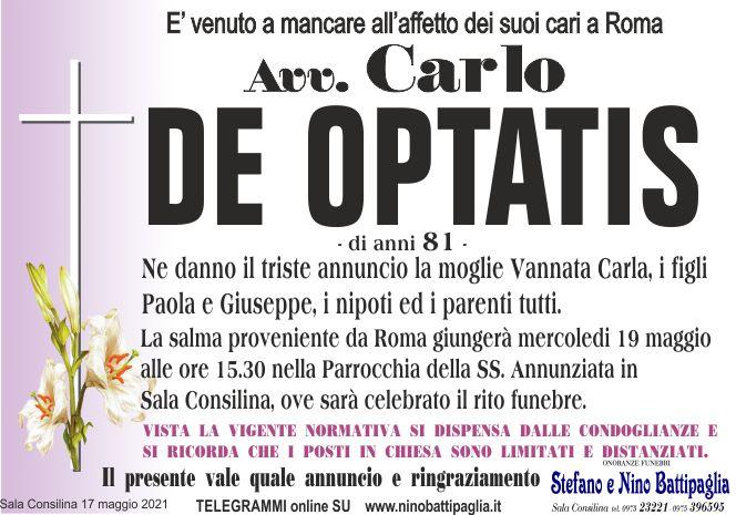 foto manifesto DE OPTATIS CARLO