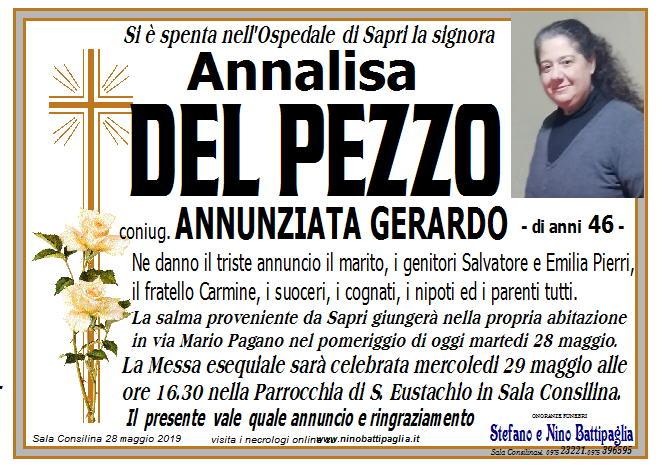 foto manifesto Del Pezzo Annalisa