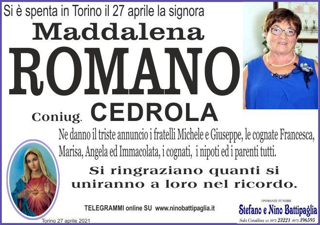 foto manifesto ROMANO MADDALENA