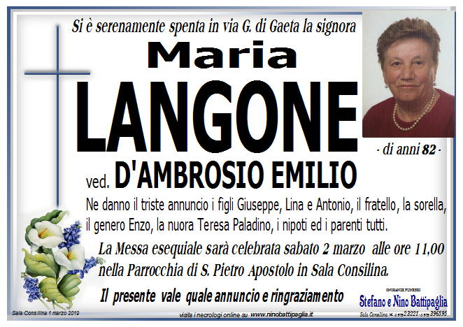 foto manifesto LANGONE MARIA
