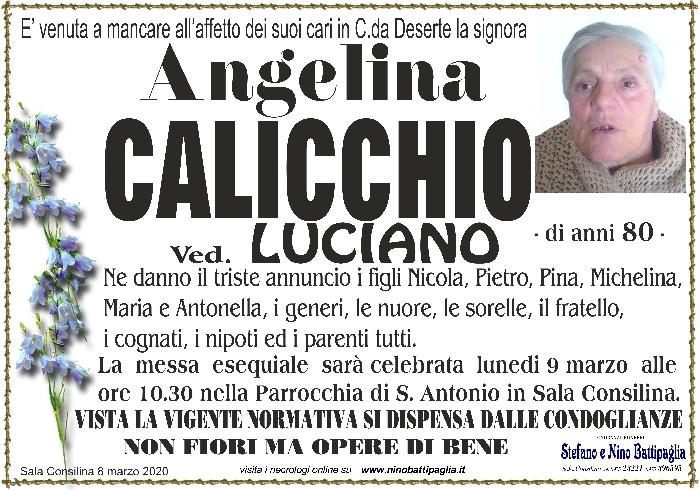 foto manifesto CALICCHIO ANGELINA