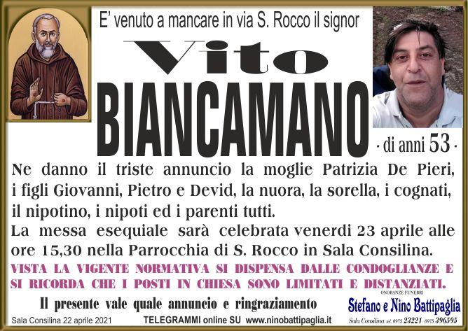 foto manifesto BIANCAMANO VITO
