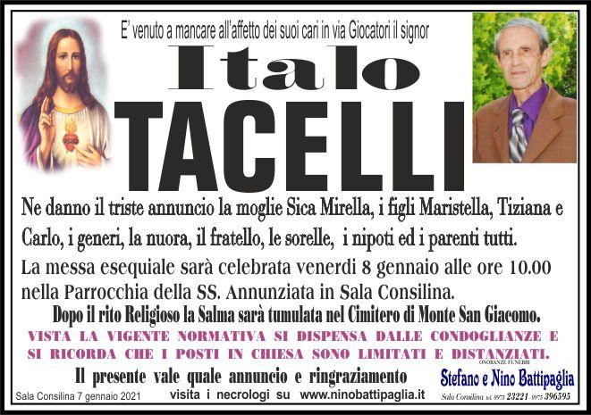 foto manifesto TACELLI ITALO