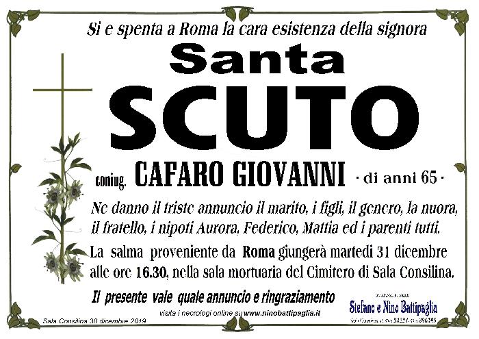 foto manifesto SCUTO SANTA