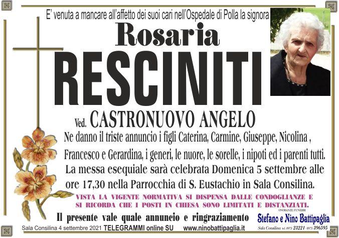 foto manifesto RESCINITI ROSARIA