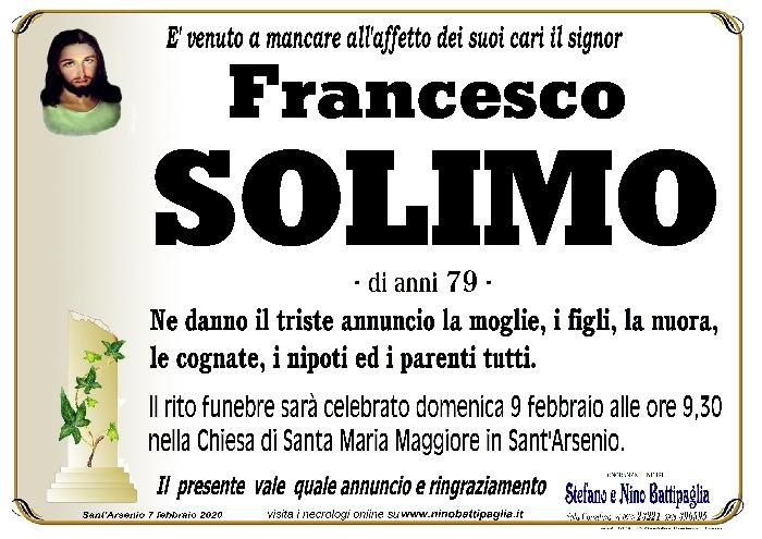 foto manifesto SOLIMO FRANCESCO