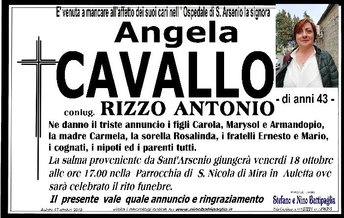 foto manifesto Cavallo Angela