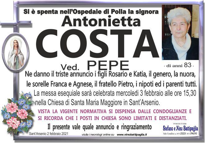 foto manifesto COSTA ANTONIETTA