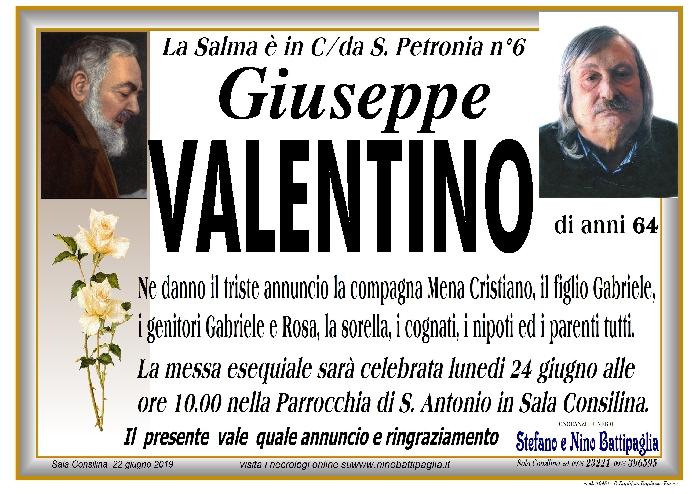 foto manifesto VALENTINO GIUSEPPE