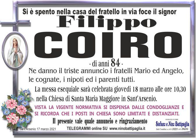 foto manifesto COIRO FILIPPO
