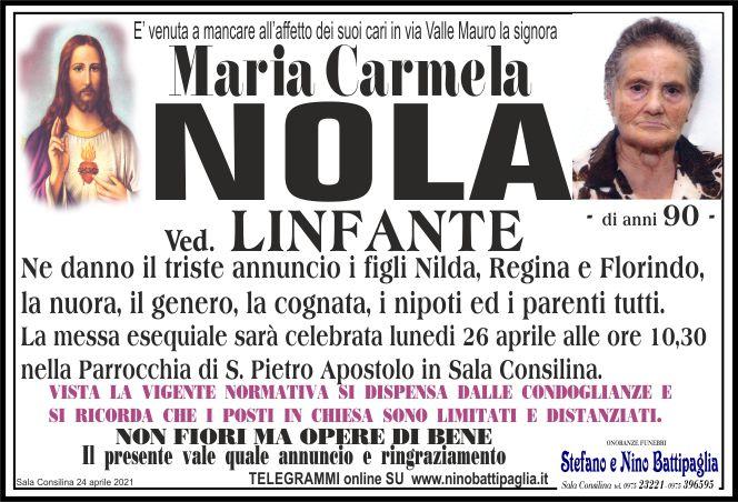 foto manifesto NOLA MARIA CARMELA