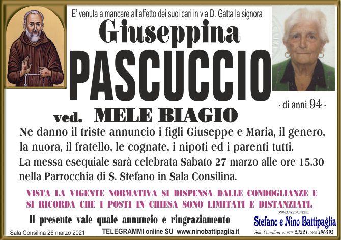 foto manifesto PASCUCCIO GIUSEPPINA