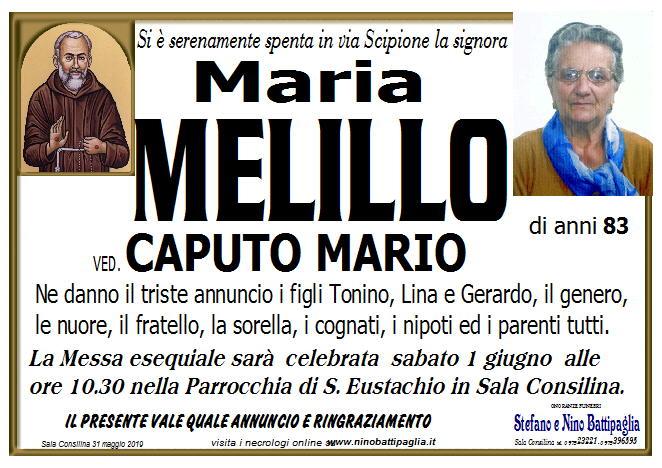 foto manifesto MELILLO MARIA