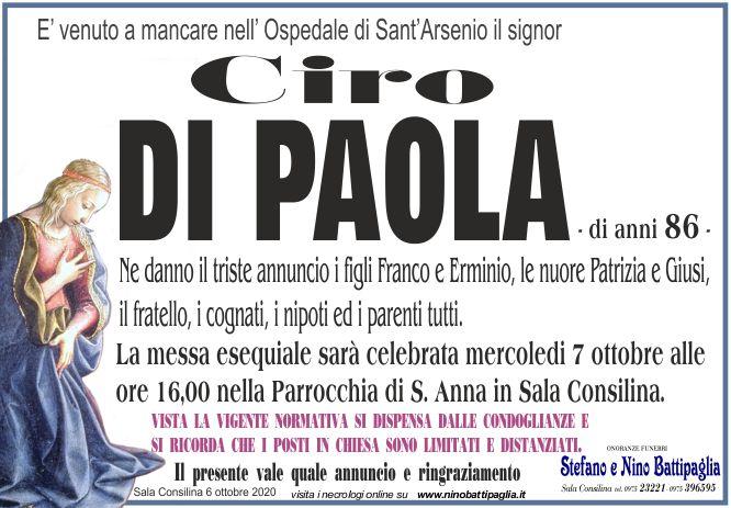 foto manifesto DI PAOLA CIRO