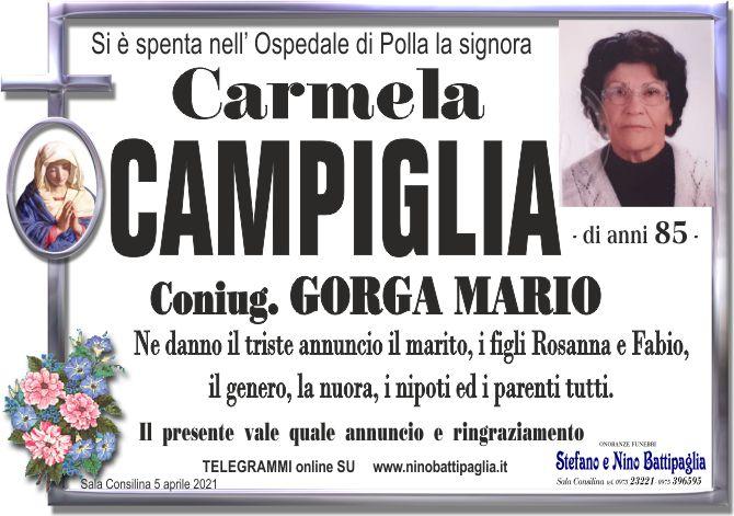 foto manifesto CAMPIGLIA CARMELA