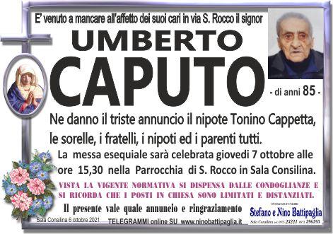 foto manifesto CAPUTO UMBERTO