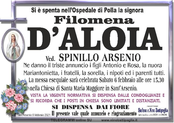 foto manifesto D\' ALOIA FILOMENA
