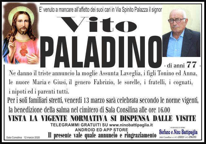 foto manifesto PALADINO VITO