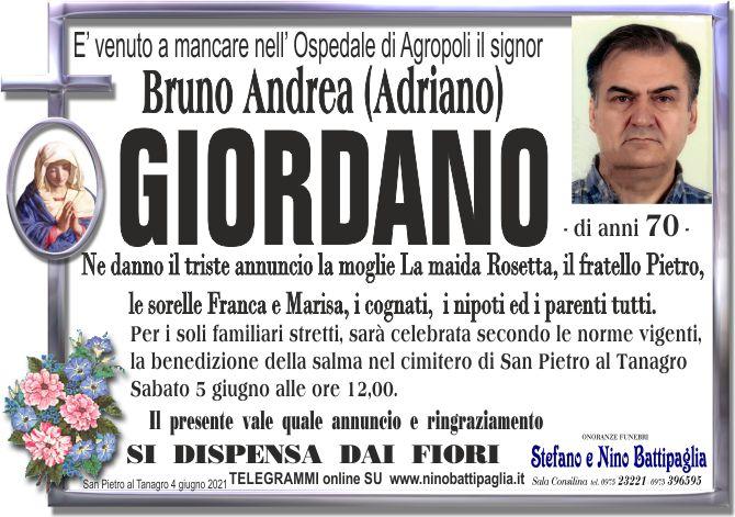 foto manifesto GIORDANO BRUNO ANDREA (ADRIANO)