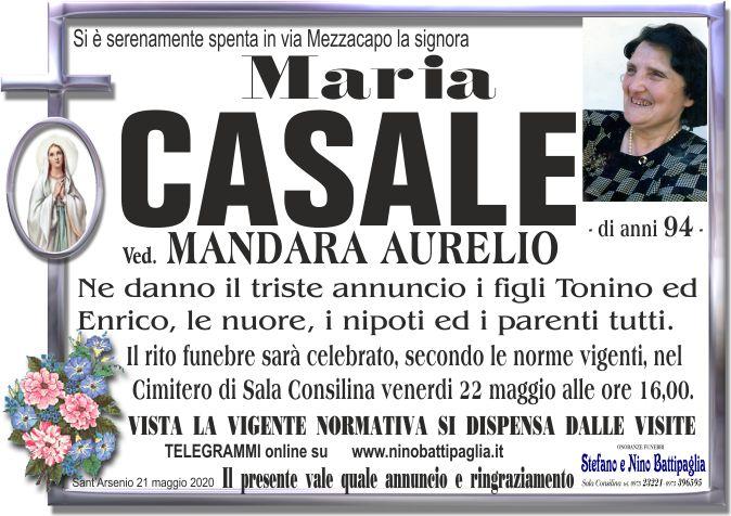 foto manifesto CASALE MARIA
