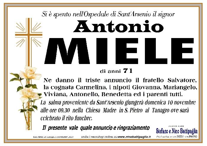 foto manifesto MIELE ANTONIO