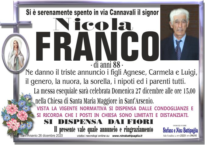 foto manifesto FRANCO NICOLA