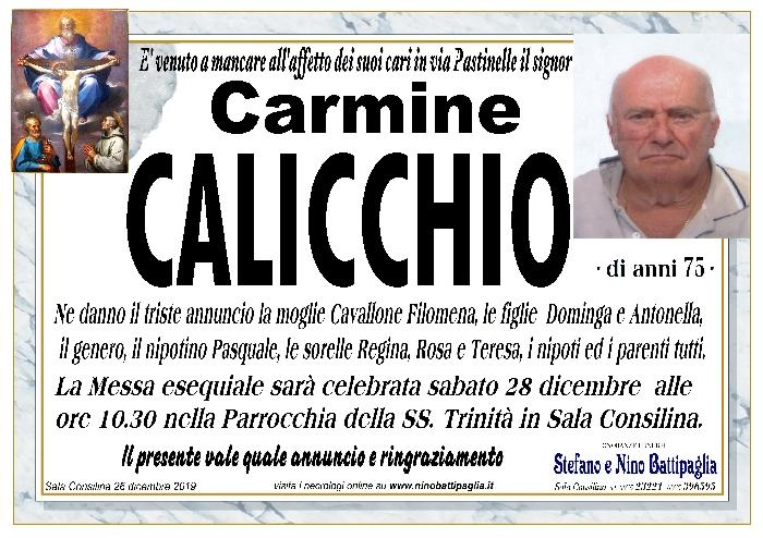 foto manifesto CALICCHIO CARMINE