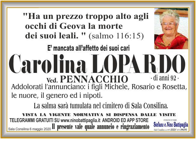 foto manifesto LOPARDO CAROLINA