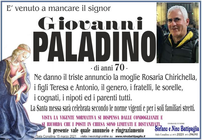 foto manifesto PALADINO GIOVANNI