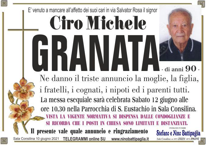 foto manifesto GRANATA CIRO MICHELE